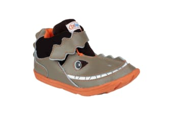 Zooligans Zoo Deano The Dinosaur Boys Shoes (Brown)