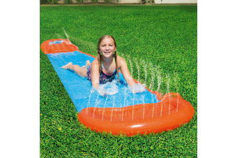 Bestway Inflatable Water Slip And Slide Single Kids Splash Toy 5.49M