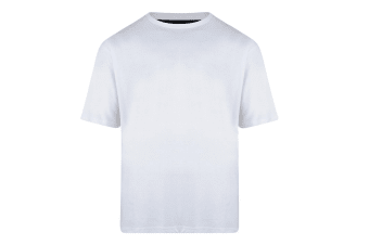 Kam Jeanswear Mens Plain T-Shirt (White)
