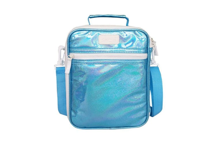 Sachi Style 225 Lustre Insulated Junior Lunch Tote Turquoise