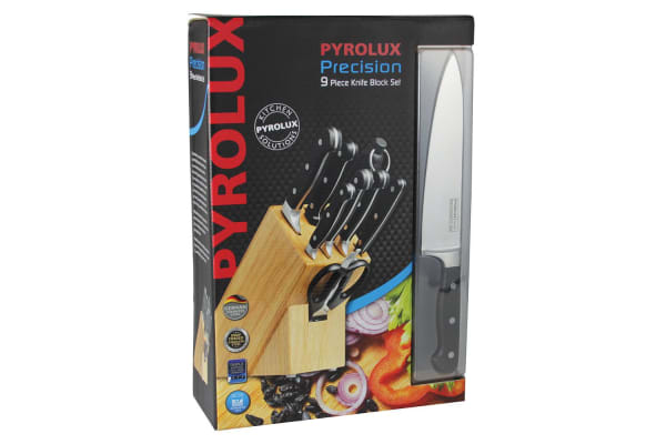 Pyrolux 9pc Precision Knife Block Knives Set Kitchen Cutlery Shears Dishwasher S