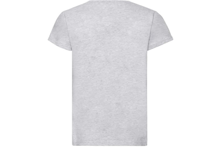 Fruit Of The Loom Girls Childrens Valueweight Short Sleeve T-Shirt (Heather Grey) (9-11)