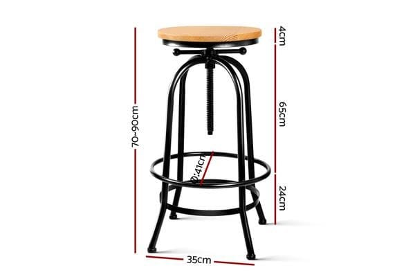 Artiss Vintage Bar Stool Retro Barstools Industrial Kitchen Counter Dining Chair