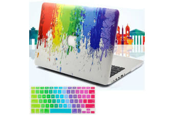 "Marble Frosted Matte Hard Case with Free Keyboard Cover for MacBook Pro 13"" 2016-2018 A1706 A1989 (With Touch Bar)-Colorful Paint 3"