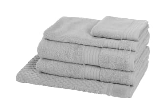Morrissey Designer Egyptian 5 Piece Towel Pack (Silver)