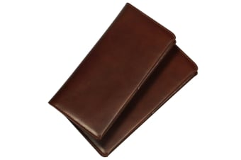 iCoverLover Real Top-Grain High-Quality Leather Universal Wallet Case Brown