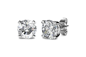 Solitaire Studs Embellished with Swarovski crystals
