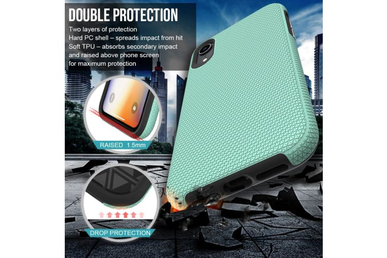 For iPhone XR Case  Armor Mint Shockproof Protective Durable Slim Phone Cover