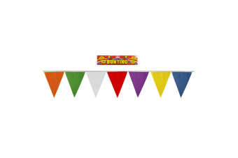 Henbrandt Multicoloured Flag Pennant Bunting (7 Metres) (Multicoloured) (One Size)
