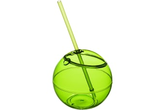 Bullet Fiesta Ball And Straw (Pack of 2) (Lime) (23 x 12 cm)