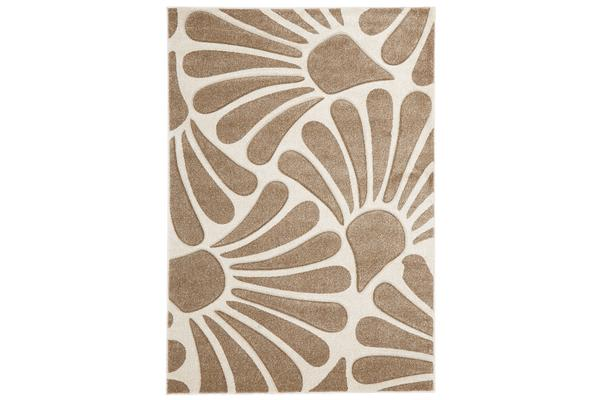 Damask Modern Fern Rug Black White 290x200cm