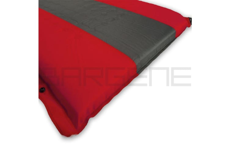 Double Self Inflating Mattress Sleeping Mat Air Bed Camping Hiking Joinable Red