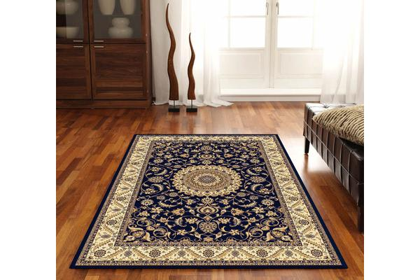 Medallion Rug Blue with Ivory Border 290x200cm