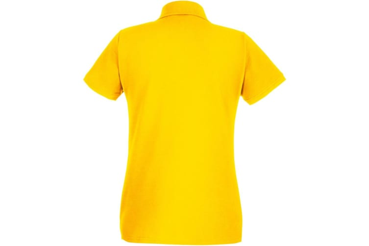 Fruit Of The Loom Ladies Lady-Fit Premium Short Sleeve Polo Shirt (Sunflower) (S)