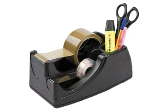 Black Heavyweight 50mm/19mm Packing Sticky Tape Dispenser Holder Desktop/Bench