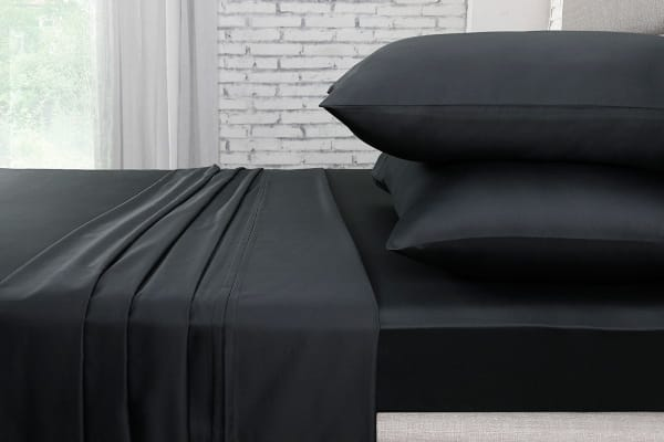 Ovela 1000TC 100% Egyptian Cotton Bed Sheet Set (King, Charcoal)