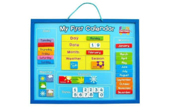 Wooden Magnetic My First Learning Calendar