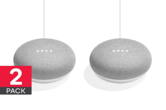 Google Home Mini (Chalk) - 2 Pack