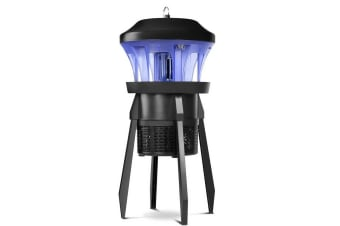 Electric Bulb Insect Zapper - Black