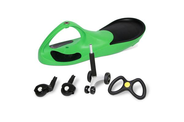 Kid's Ride On Wiggle Scooter Green