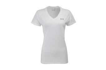 Under Armour Women's UA Tech V-Neck T-Shirt (White/Steel)
