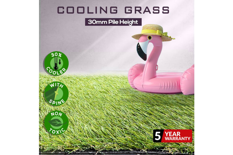 Artificial Grass Synthetic Turf Fake Lawn Plastic Braches Pin Green Plant 30mm Grass