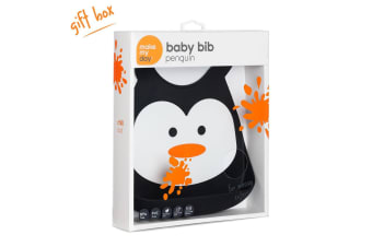 Make My Day Baby Bib - Chill Out Penguin