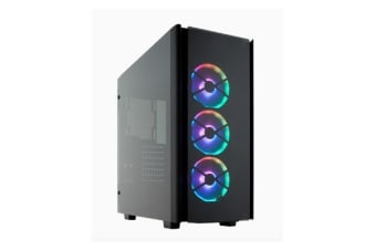 Corsair Obsidian Series 500D RGB SE Mid Tower Case, Premium Tempered Glass and Aluminium, LL120 Fans and Commander PRO