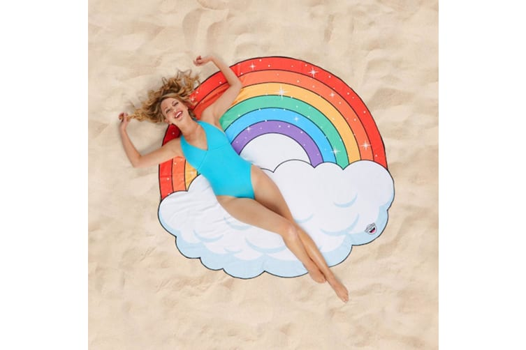 HUGE Rainbow Cloud Beach Blanket 152cm | by BigMouth Inc.