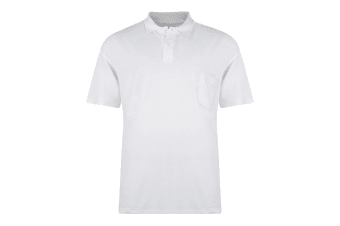 Kam Jeanswear Mens Plain Polo Shirt (White)