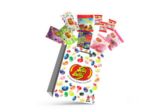 10x Jelly Belly A Kids Showbag w/Cotton Candy/Belly Flops/Fruit Mix/Donut Shoppe