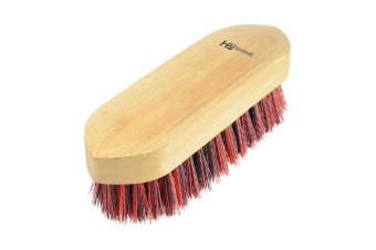 HySHINE Natural Wooden Dandy Brush (Navy/Red) (Small)