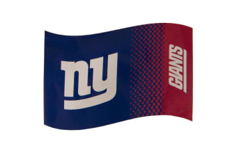New York Giants Fade Design Flag (Blue/Red) (One Size)