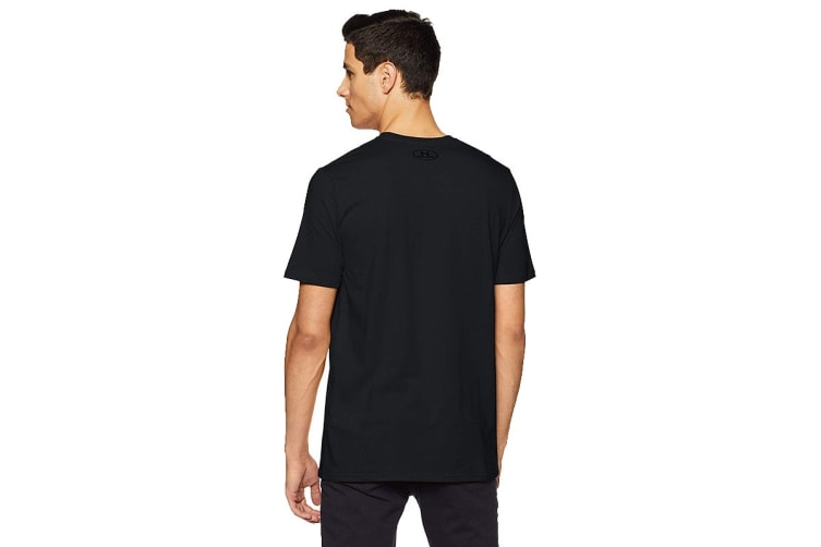 Under Armour Men's Boxed Sportsyle T-Shirt (Steel Light Heater/Black, Size Extra Large)