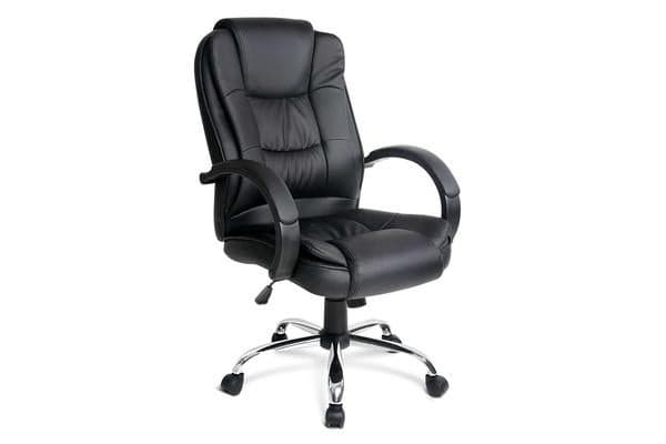 Luxury Executive PU Leather Office Computer Chair (Black)