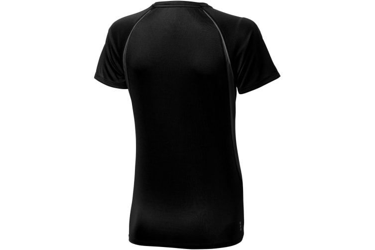 Elevate Womens/Ladies Quebec Short Sleeve T-Shirt (Solid Black/Anthracite) (XXL)
