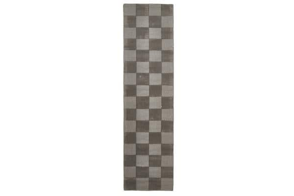 Wool Hand Tufted Rug - Box Smoke - 300x80cm