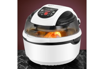 5-Star Chef 1300W 10L Air Fryer 6 Function Convection Oven Cooker Healthy White