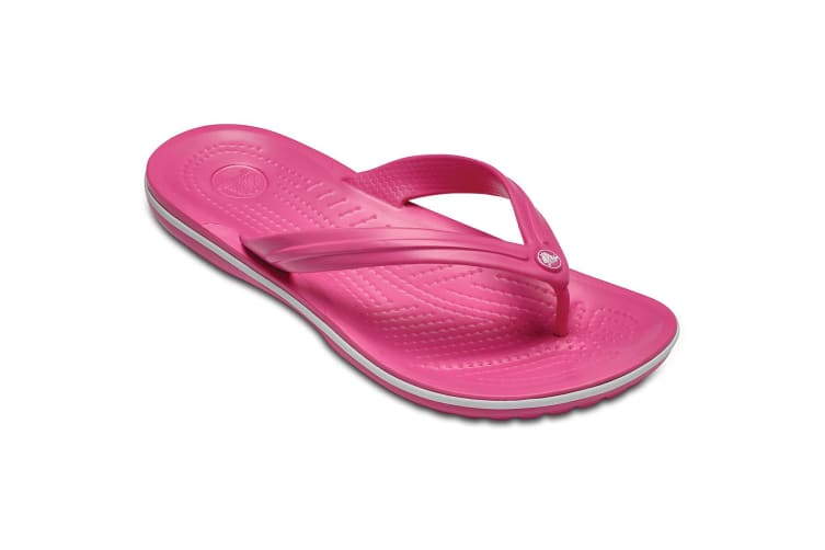 Crocs Womens/Ladies Crocband Flip Sandals (Pink) (6 UK)