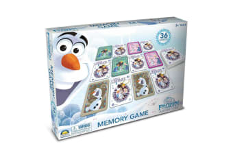 36pc Disney Olaf's Frozen Adventure Memory Card Game Toys 2-4 Players Kids 3y+