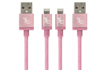 2PK Gecko MFI 1.2m Lightning USB Charging Cable Data Sync for iPhone X/XS Rose