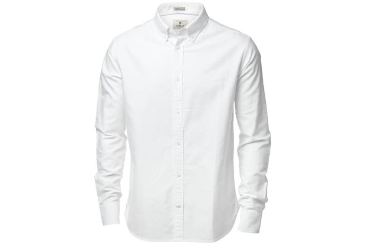 Nimbus Mens Rochester Oxford Long Sleeve Formal Shirt (White) (2XL)