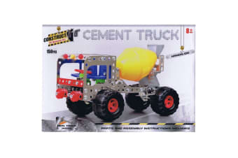 Construct It Kit Cement Truck Set with 150 Pieces