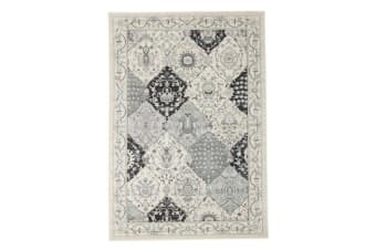 Persian Panel Design Rug Blue Navy Bone 230x160cm