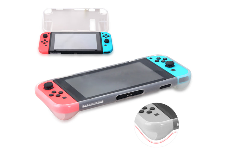 Tpu Cover Case For Nintendo Switch, Come With Glass Screen Protector White