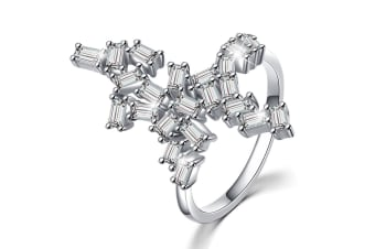 .925 Wild Fantasy Ring-Silver/Clear   Size US 9