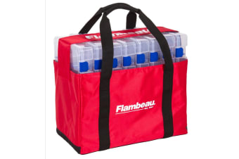 Flambeau 5228 Large Fishing Tackle Tray Tote Bag with Eight 5007 Tuff Tainers