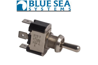 BLUE SEA HI QUALITY CARLING ON-OFF-ON 3 WAY NICKEL / BRASS TOGGLE SWITCH 4152