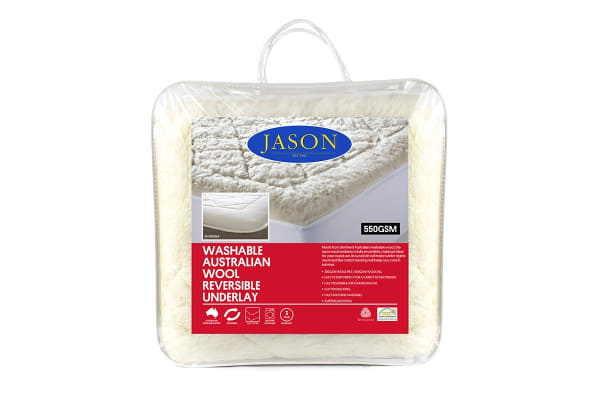 Jason 550GSM Australian Wool Reversible Underlay (Queen)