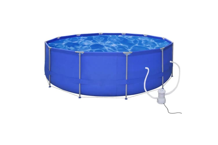 vidaXL Swimming Pool Round 457 cm with Filter Pump 530 gal / h